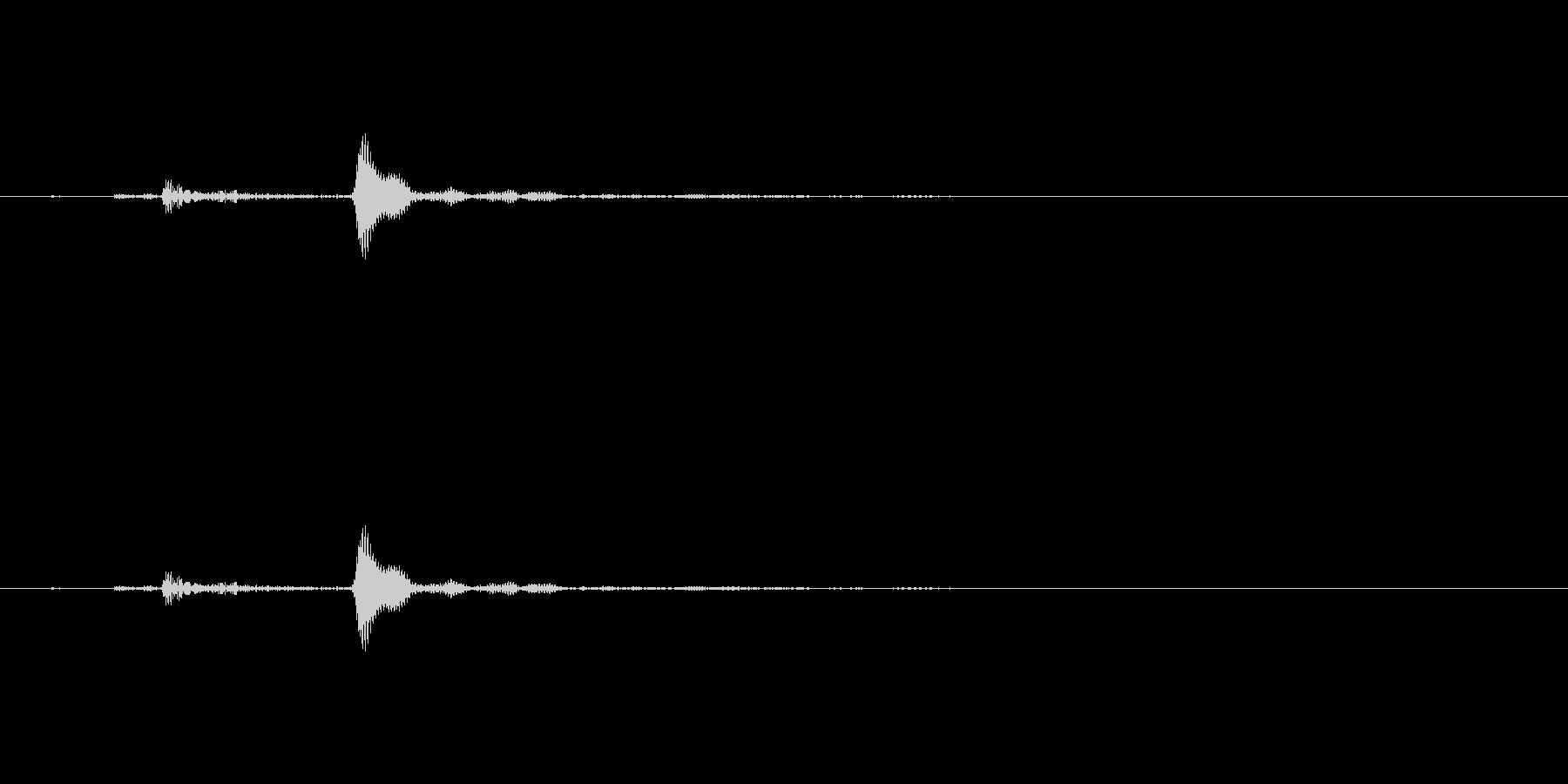選択、決定、ポワン、ポップ_3の未再生の波形