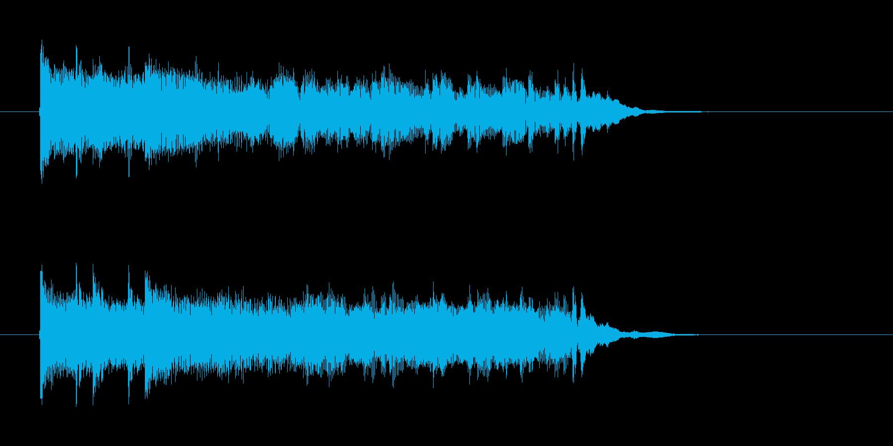 疾走感ある近未来的なテクノジングルの再生済みの波形