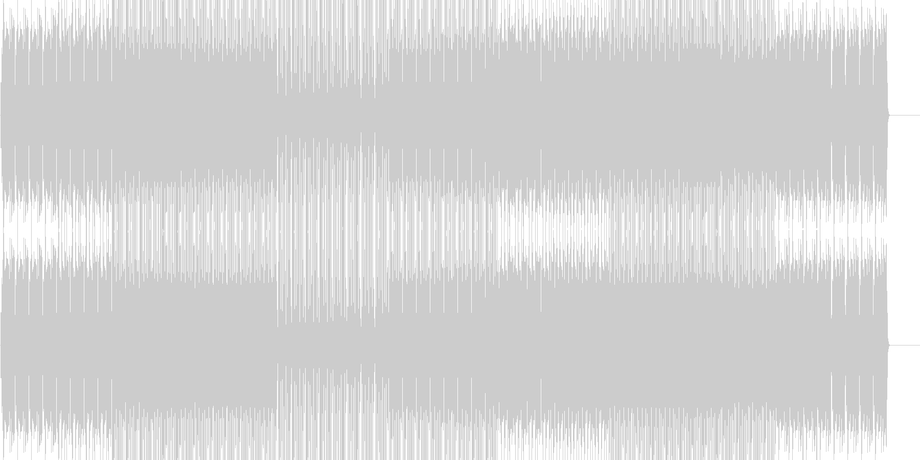 ほのぼのフォークトロニカ  映像 BGMの未再生の波形
