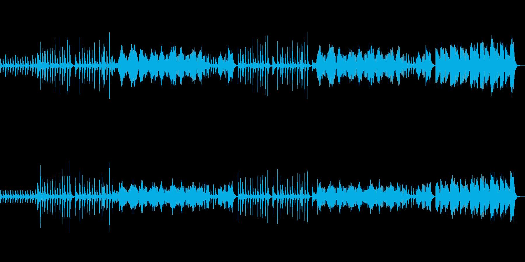 体操音楽、ラジオ体操風、ピアノの再生済みの波形