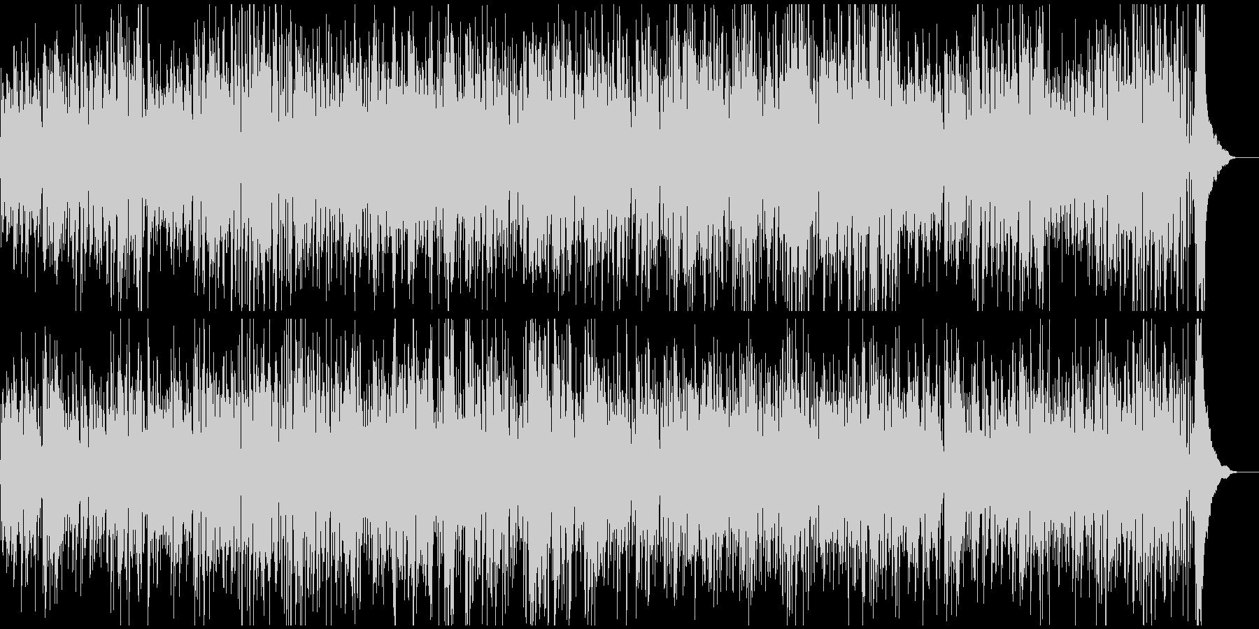 ギターとピアノのジャズ定番イメージの未再生の波形