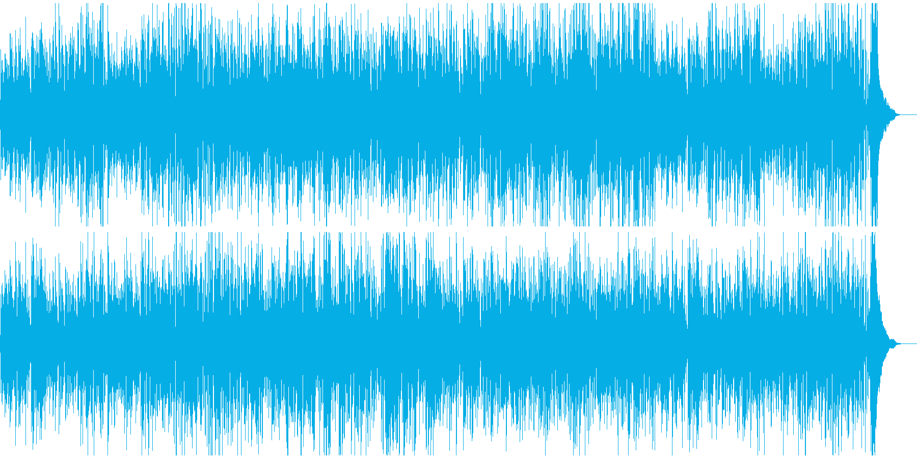 ギターとピアノのジャズ定番イメージの再生済みの波形