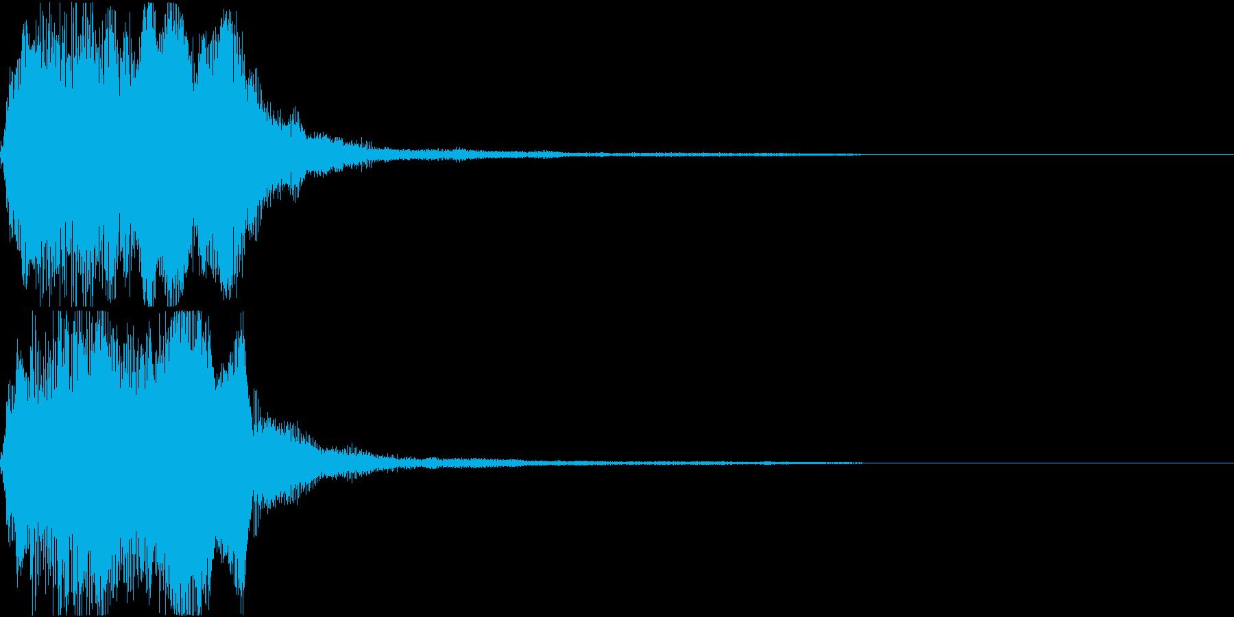 ラッパ ファンファーレ 定番 5 早いの再生済みの波形
