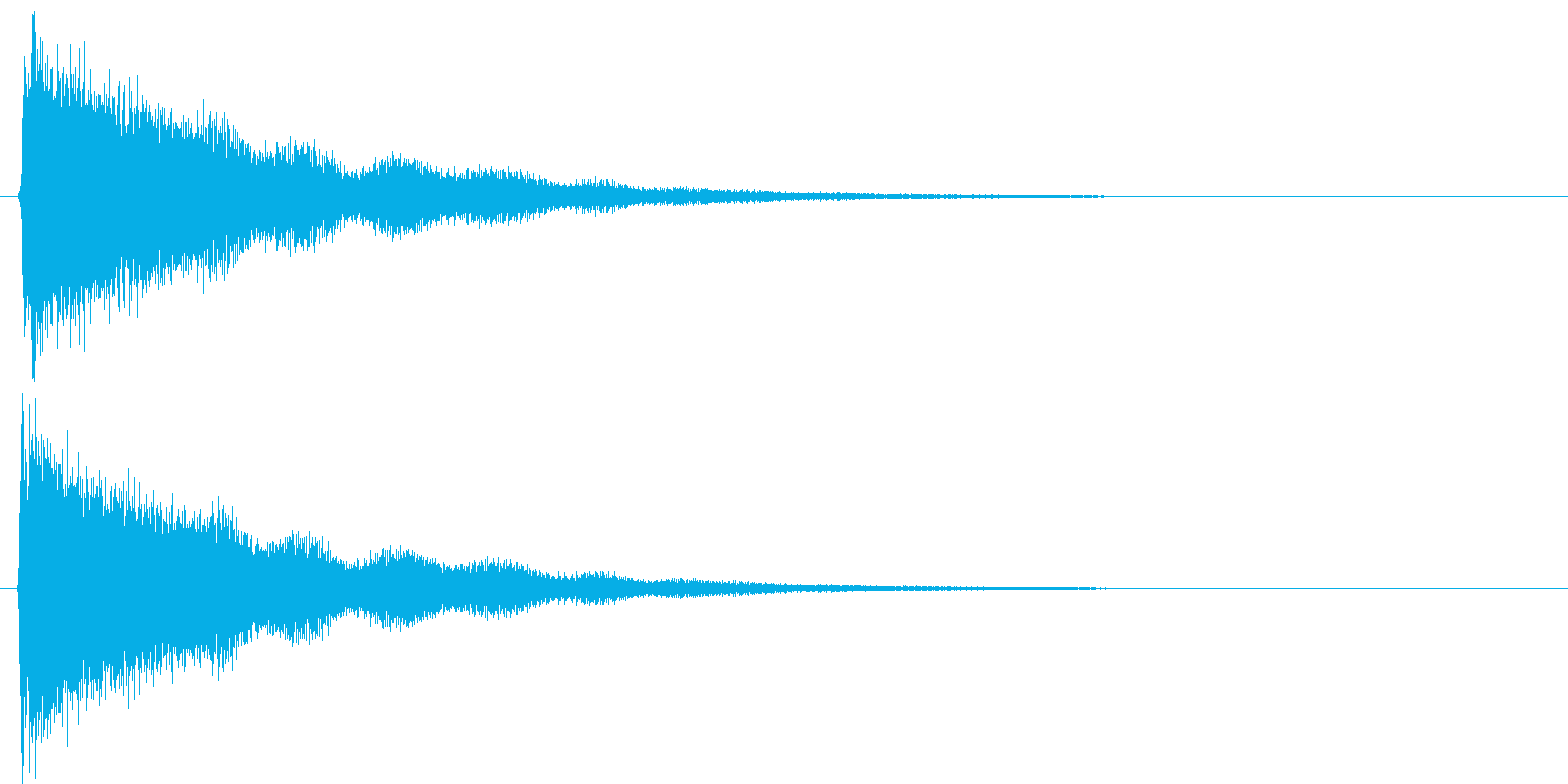 ピーン!(ベル)の再生済みの波形