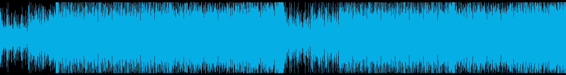 バイオリンメインの壮大な4つ打ちの再生済みの波形