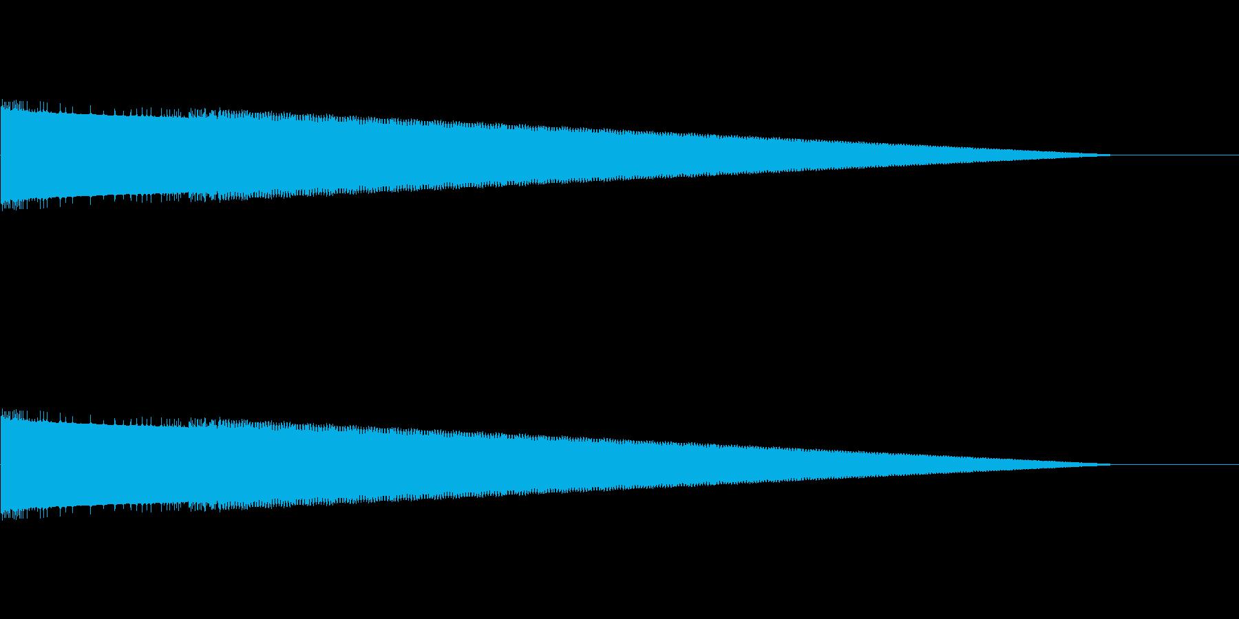 レトロゲーム風ヒット音5の再生済みの波形