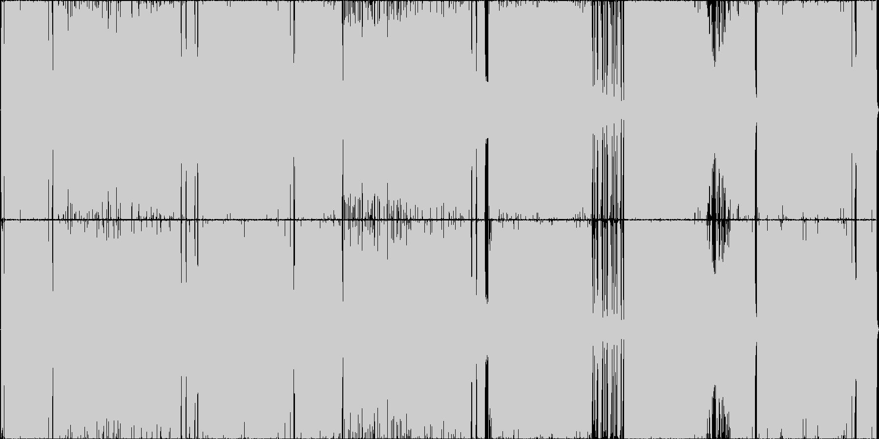 爽やかで前向きなロックの未再生の波形