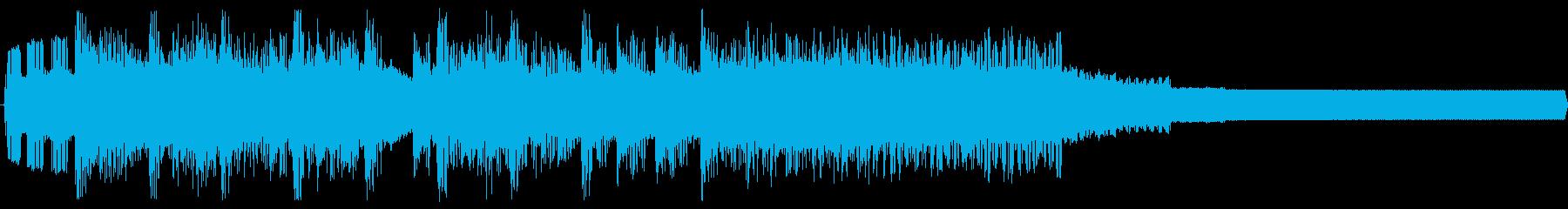 チップチューンの明るいファンファーレの再生済みの波形