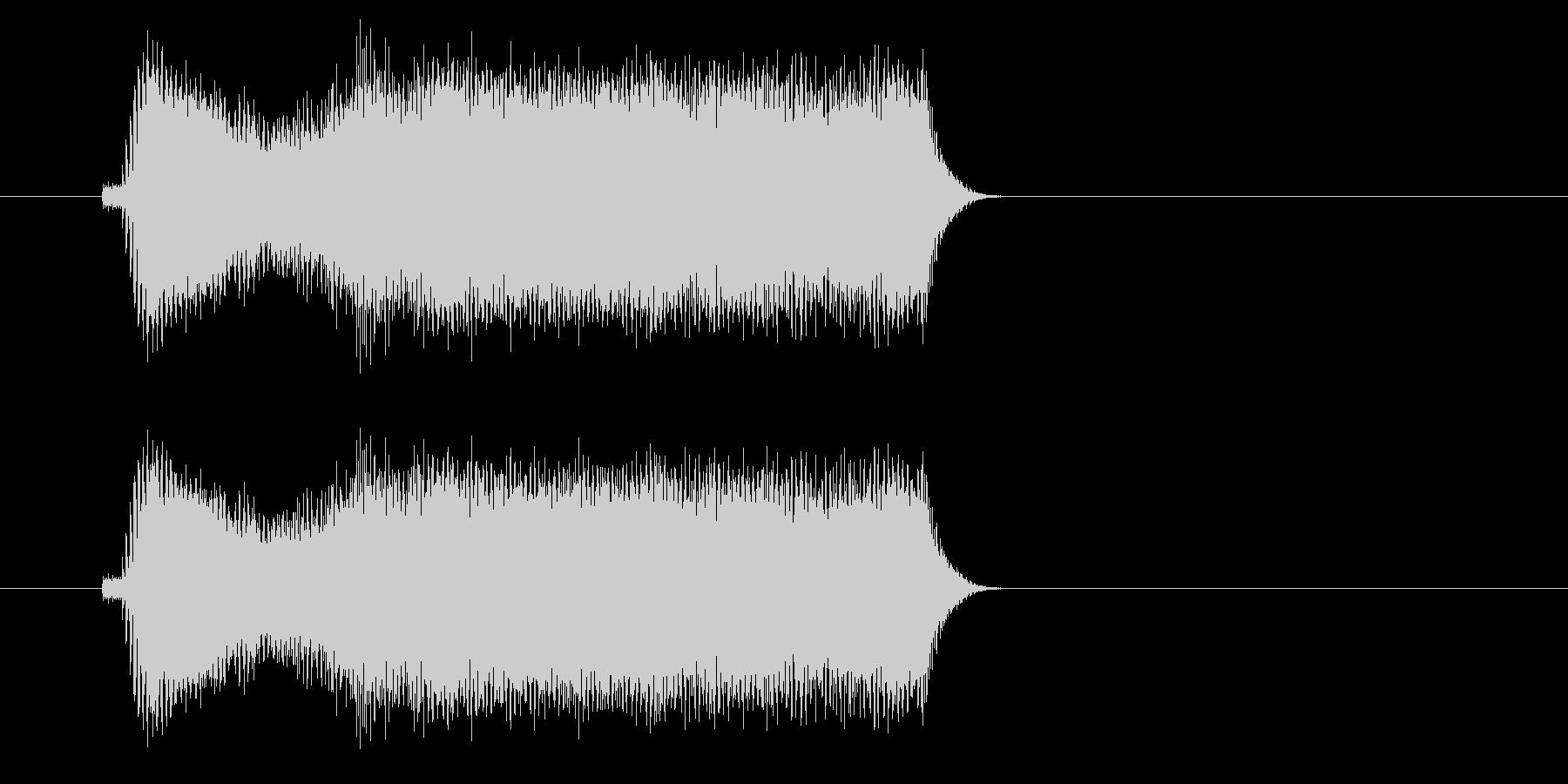 ギュイイイイン(高音の金切音)の未再生の波形