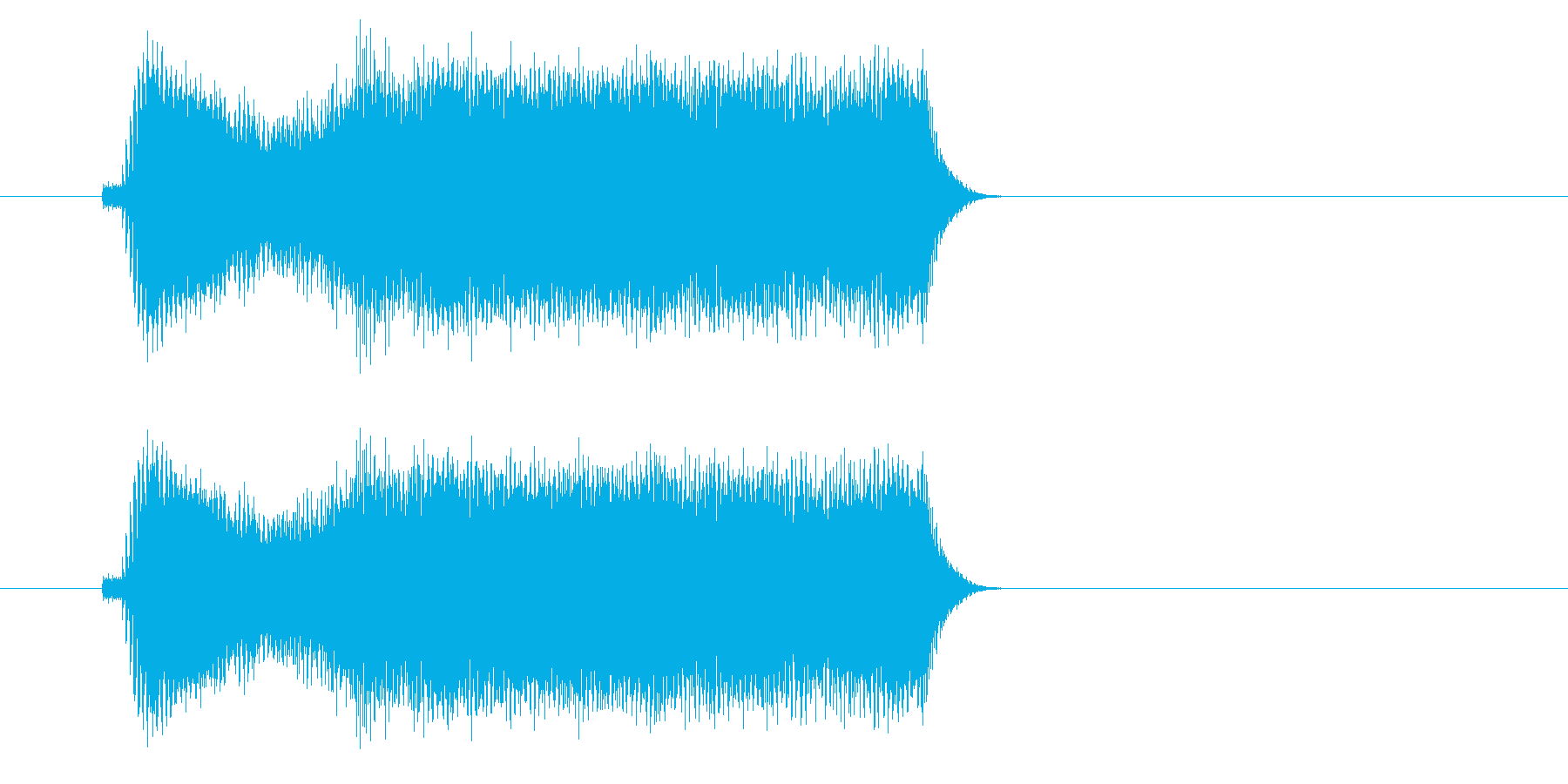 ギュイイイイン(高音の金切音)の再生済みの波形