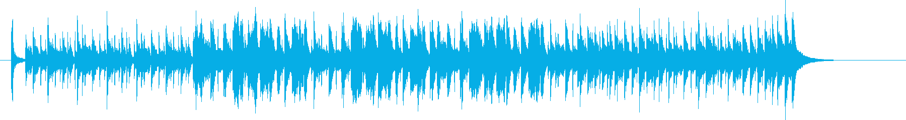 軽快でポップなバンドのジングルの再生済みの波形