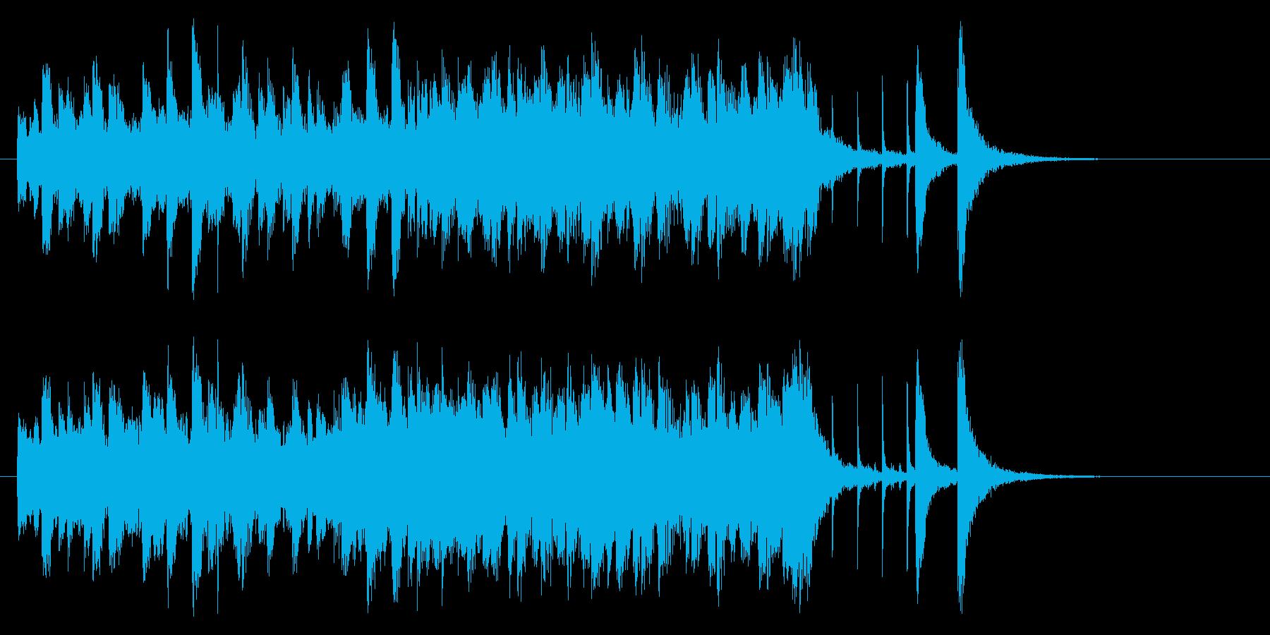 20秒程度の、少し田舎っぽい風景をイメ…の再生済みの波形