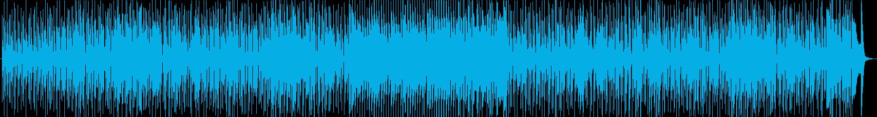 70年代風のレトロファンキーチューンの再生済みの波形