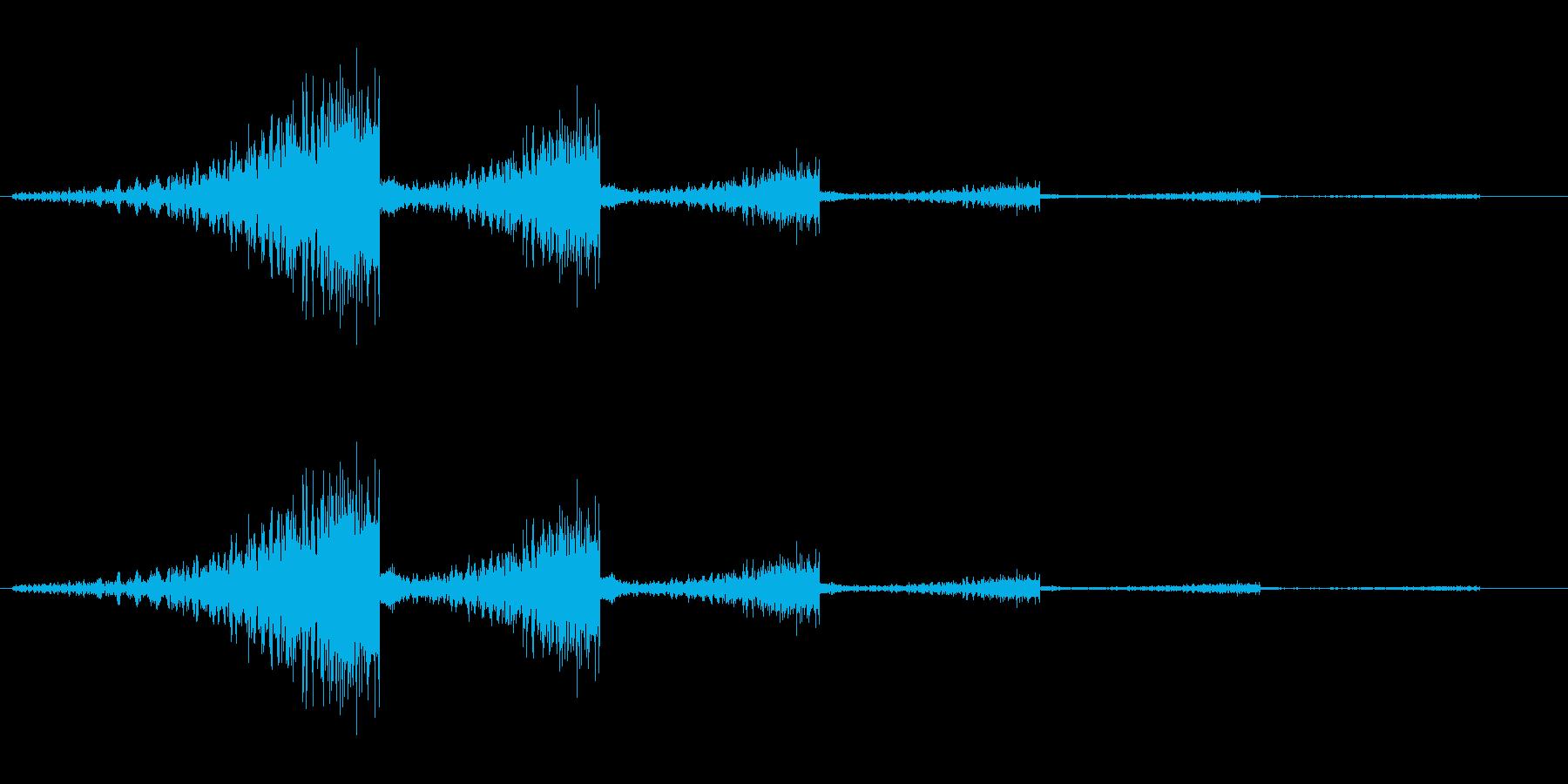 シュワンシュワン(通る音)の再生済みの波形