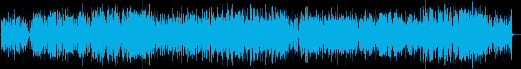 明るく楽しげなシンセサイザーピアノ曲の再生済みの波形