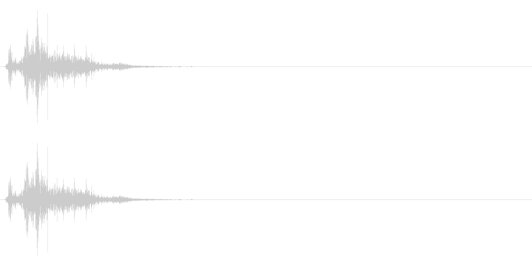 ドサッ(人が倒れる音)05の未再生の波形