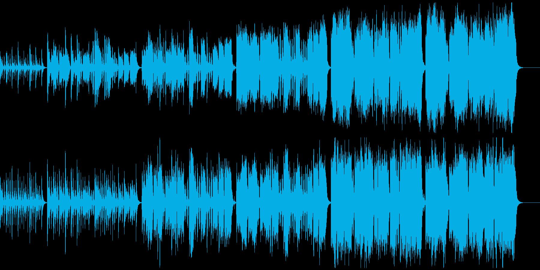 日常系、暖かくほんわかとしたワルツの再生済みの波形