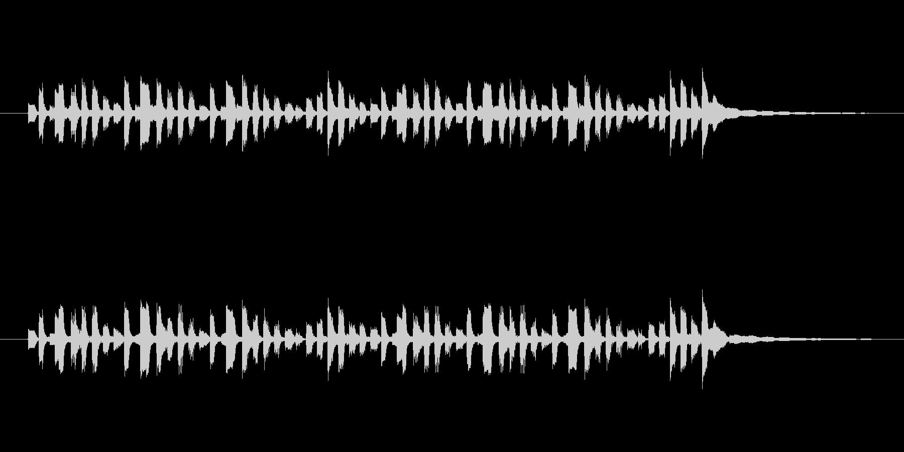 リズミカルなエレピのジングルの未再生の波形