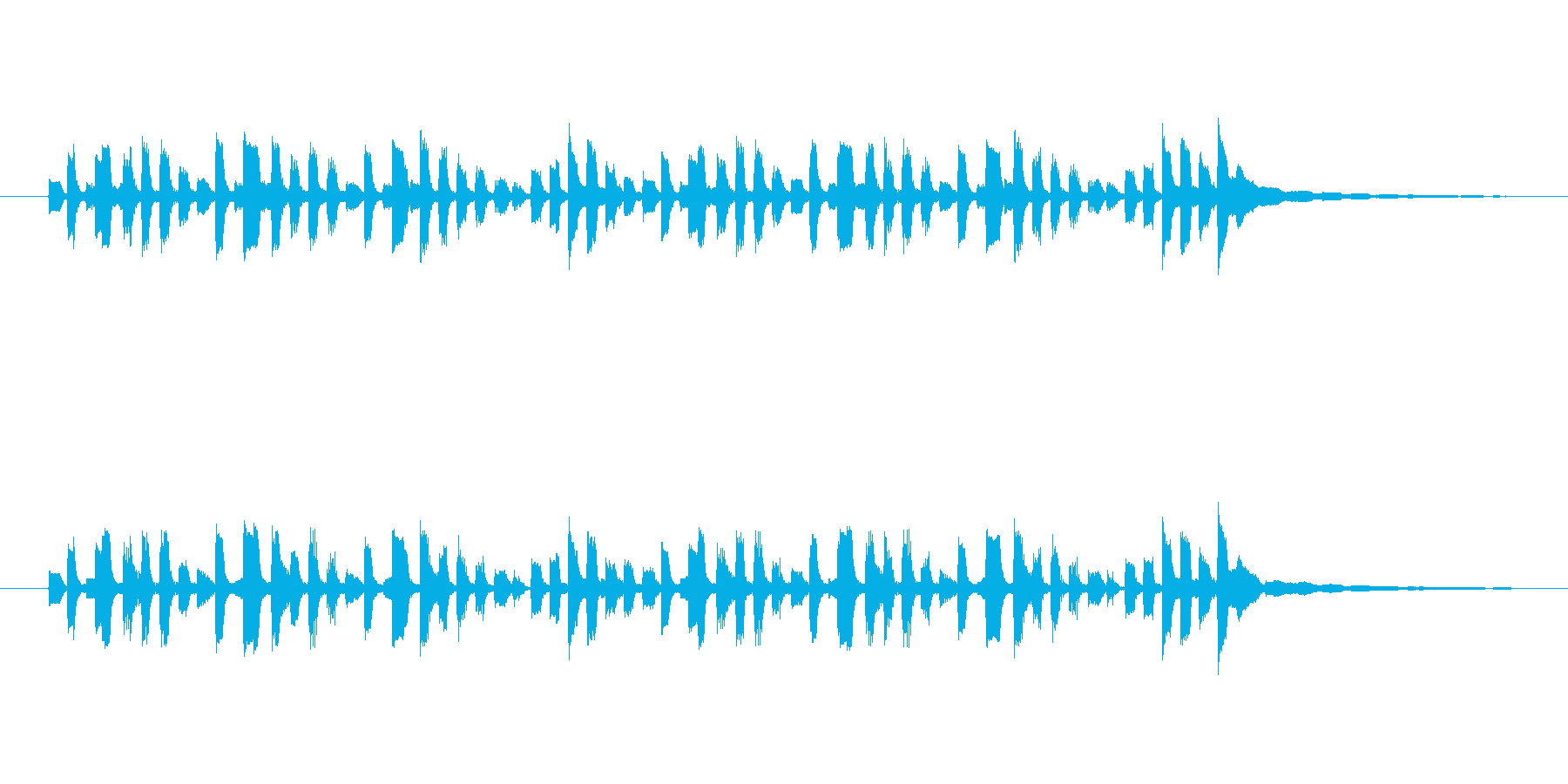 リズミカルなエレピのジングルの再生済みの波形