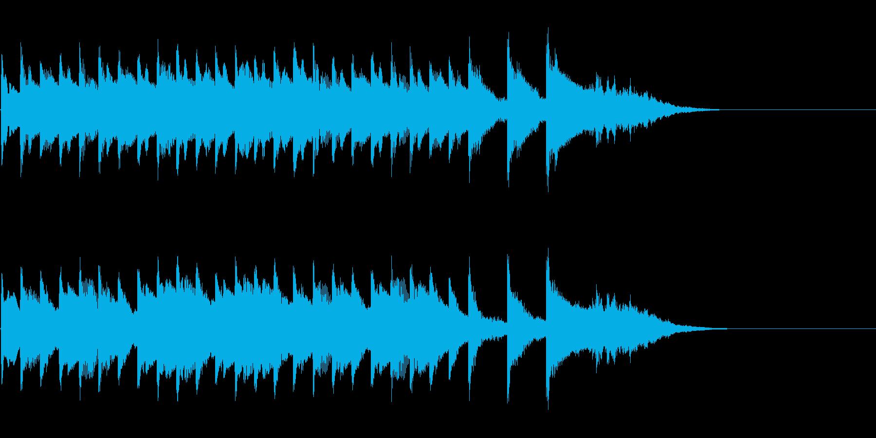シンプルなアコギ風キラキラ入りジングルの再生済みの波形