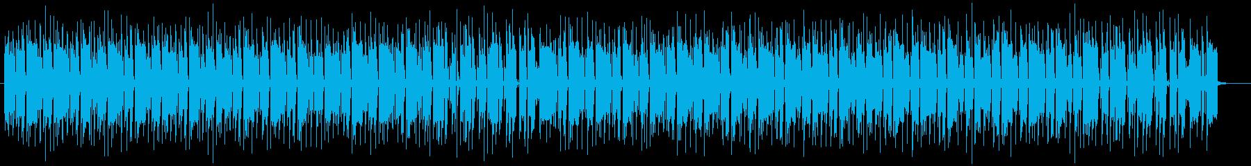 軽快なシンセリフレインミュージックの再生済みの波形