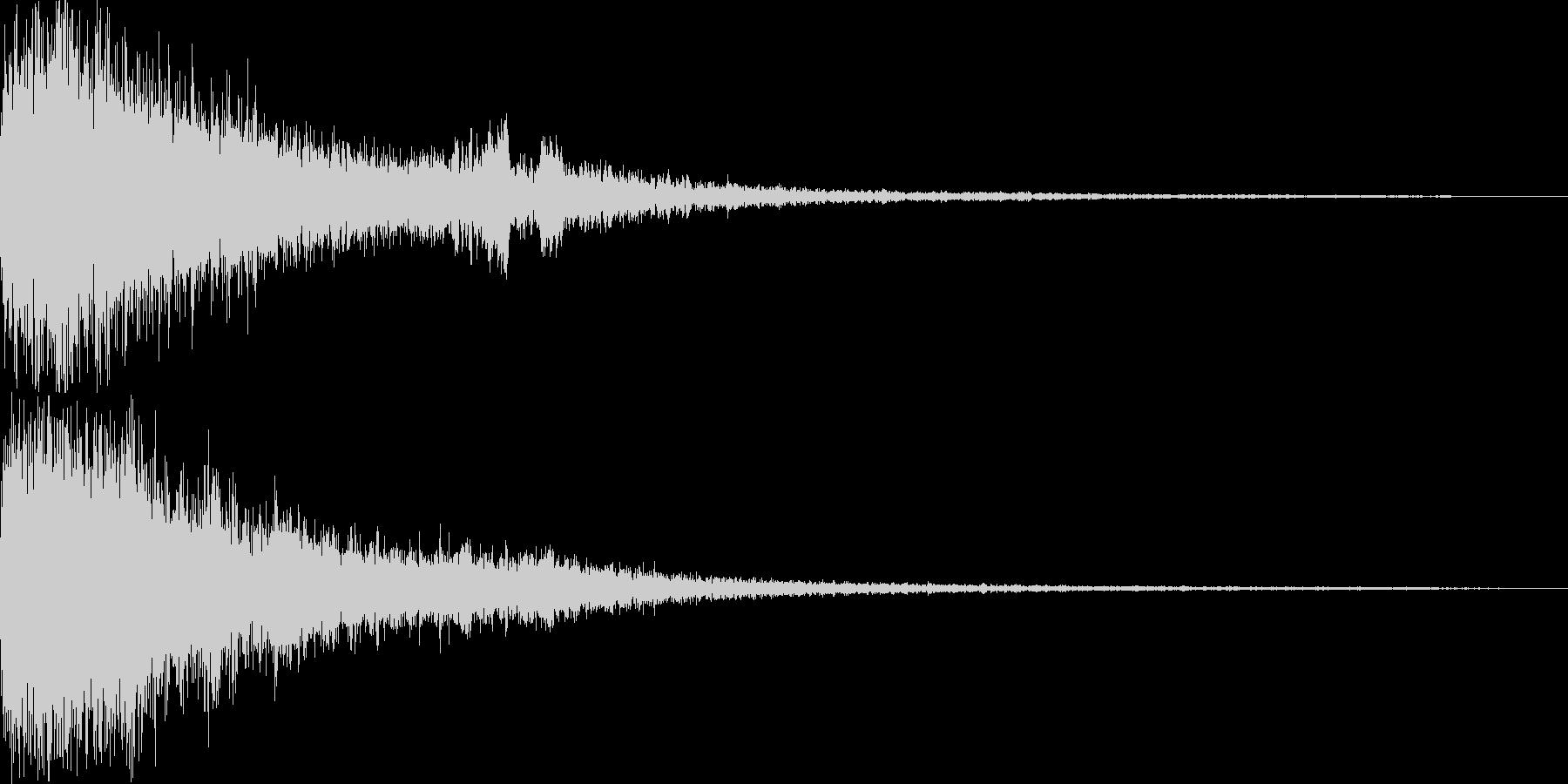 格闘ゲームのKO(フィニッシュ音)の未再生の波形
