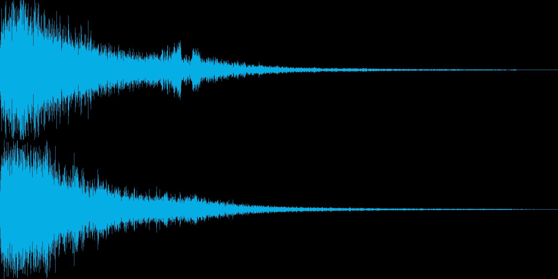 格闘ゲームのKO(フィニッシュ音)の再生済みの波形