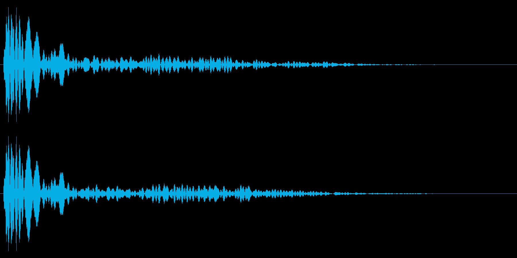 シンプルな決定音1の再生済みの波形