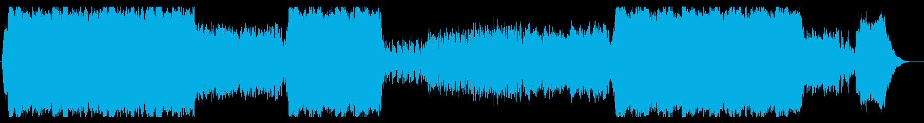 壮大な印象のコンピューターミュージックの再生済みの波形