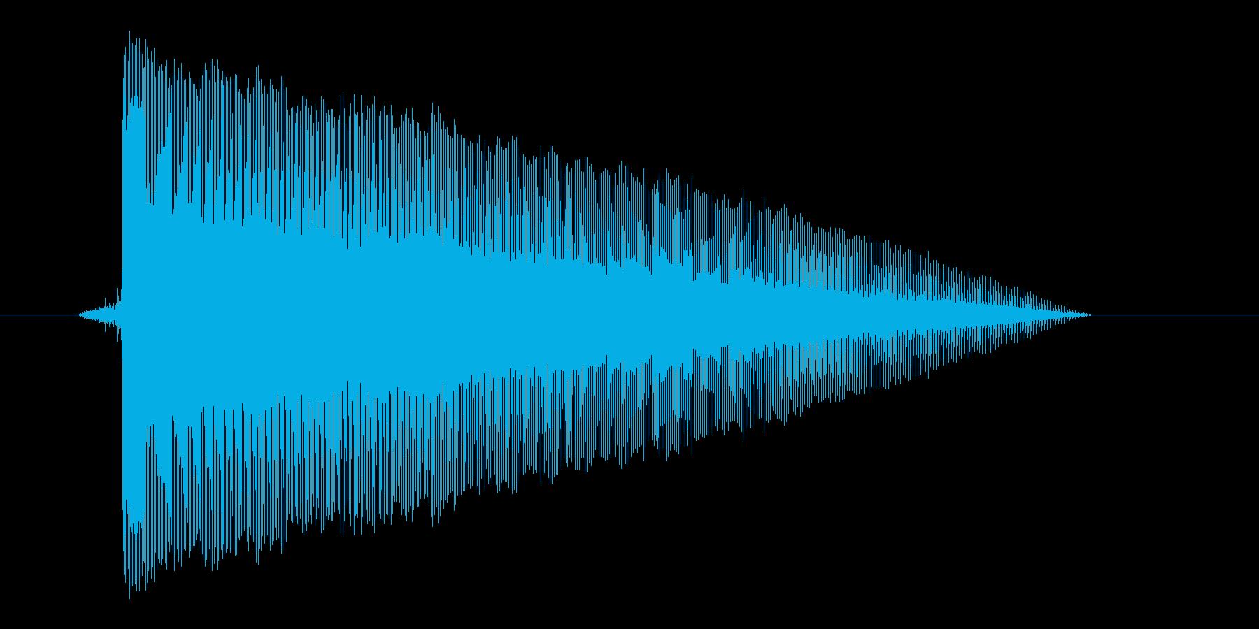 ゲーム(ファミコン風)レーザー音_008の再生済みの波形