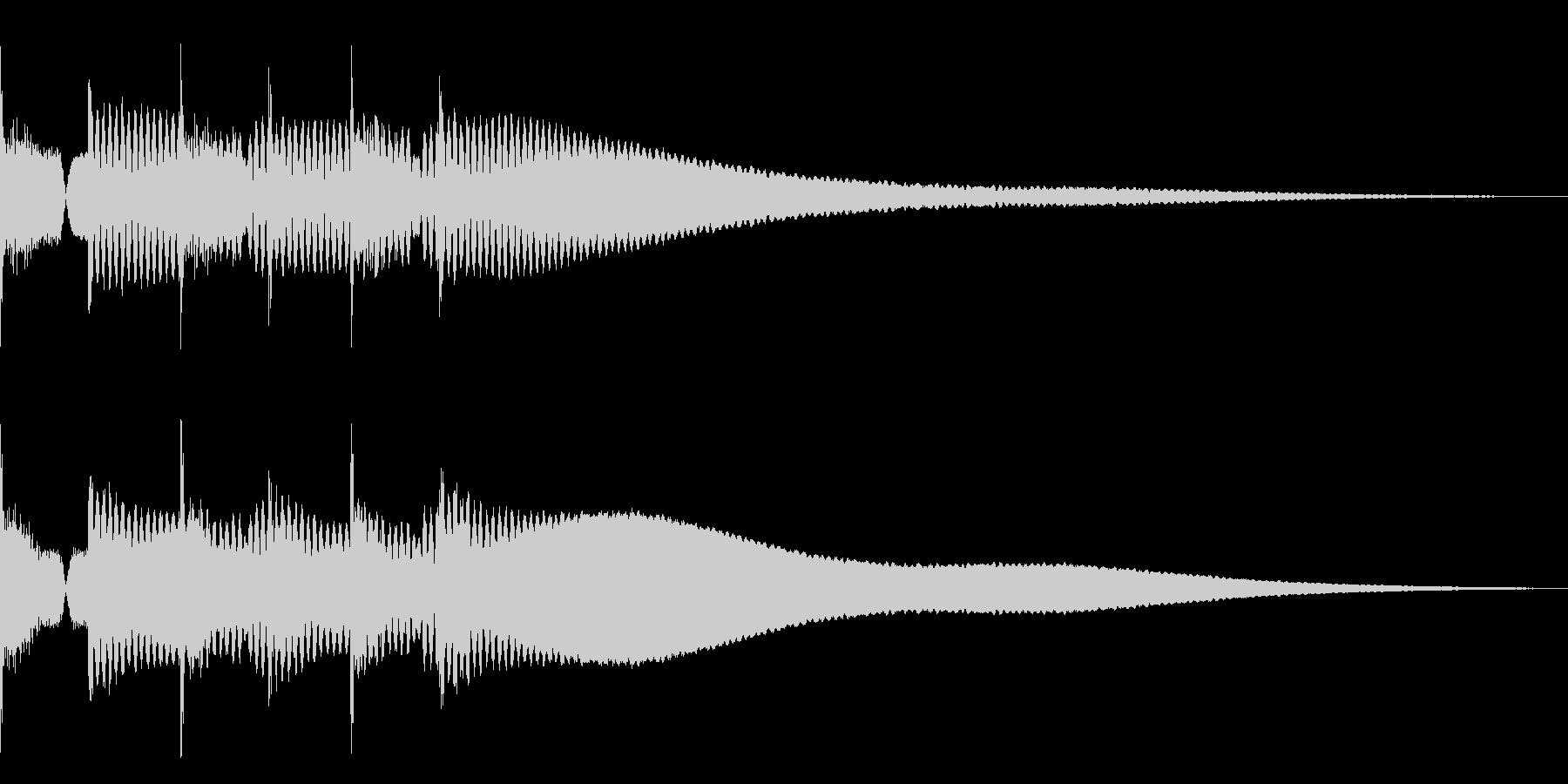 ピポピポピポーン(シンプルな正解音)の未再生の波形