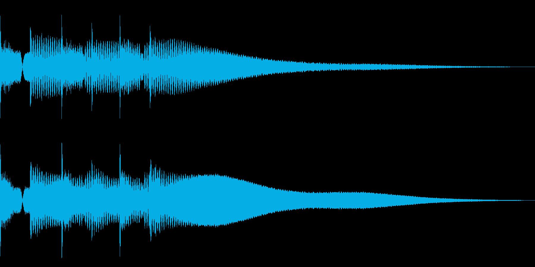 ピポピポピポーン(シンプルな正解音)の再生済みの波形