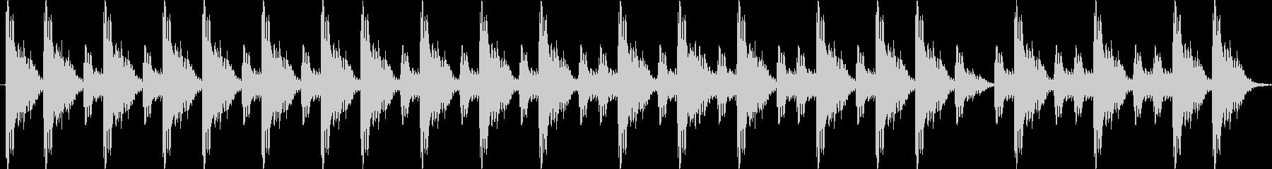 ポンポンポポン 相撲の寄せ太鼓の未再生の波形