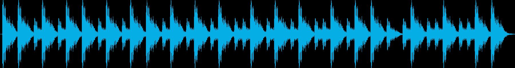 ポンポンポポン 相撲の寄せ太鼓の再生済みの波形