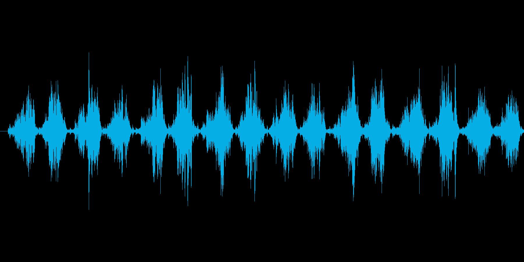 シャカシャカ...(歯ブラシ、磨く)の再生済みの波形
