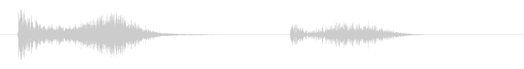 ミサイルが命中後小爆発、ドヒューンの未再生の波形