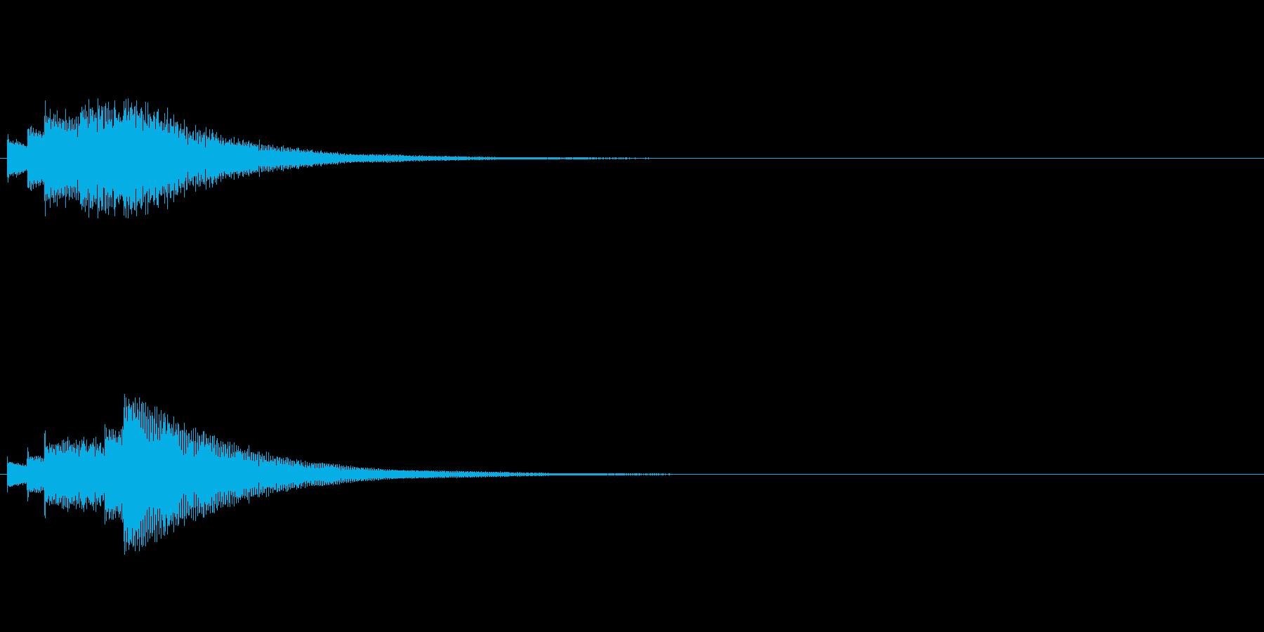 【ショートブリッジ02-1】の再生済みの波形