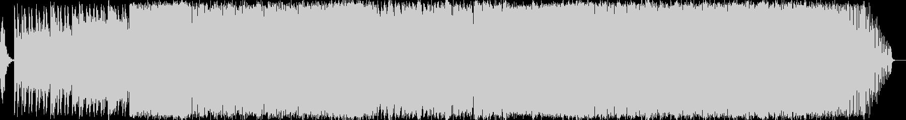 明るい曲調のトランスの未再生の波形