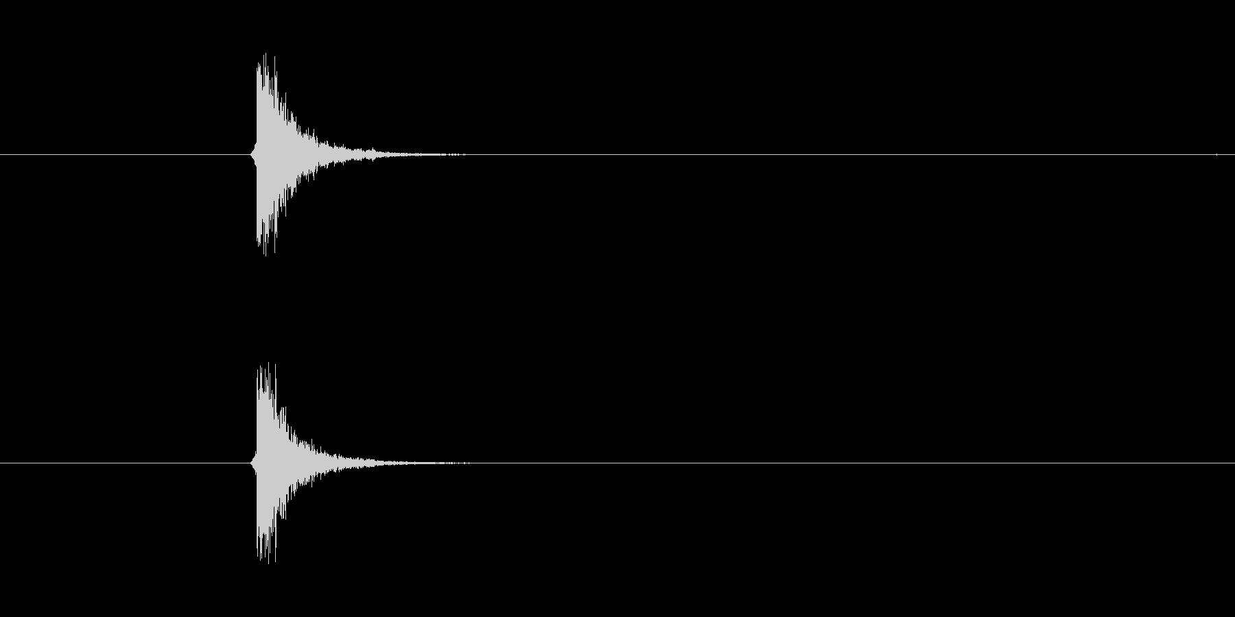 打撃音、チップ音。の未再生の波形