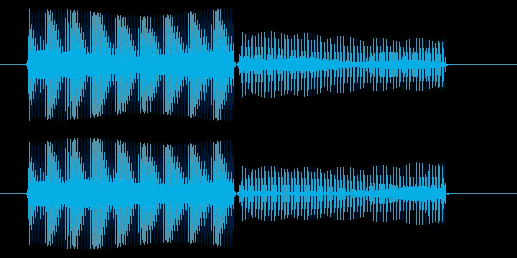 コンピューター/決定音/8ビットの再生済みの波形