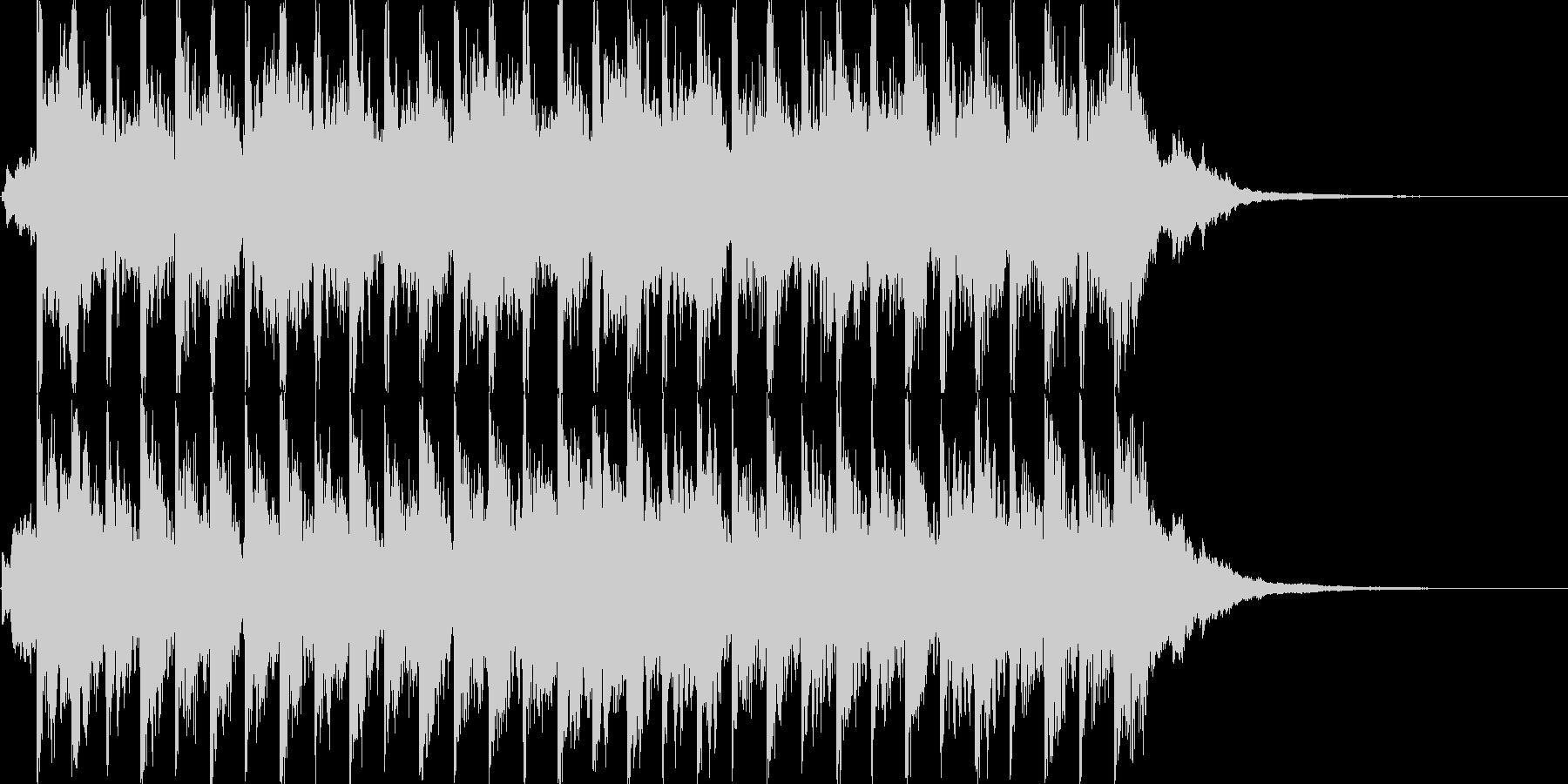 キラキラしたポップ BGMの未再生の波形