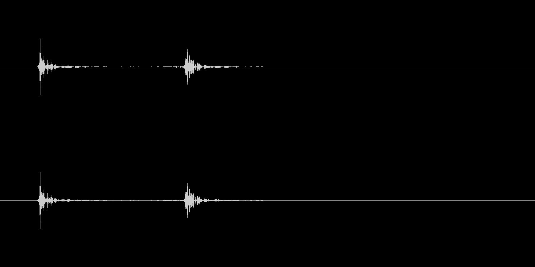 【生活音】マウスセンターボタンクリックの未再生の波形
