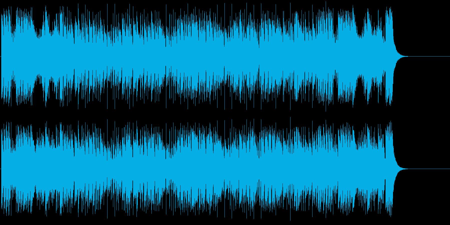 走り抜ける様なスピード感あふれるポップスの再生済みの波形