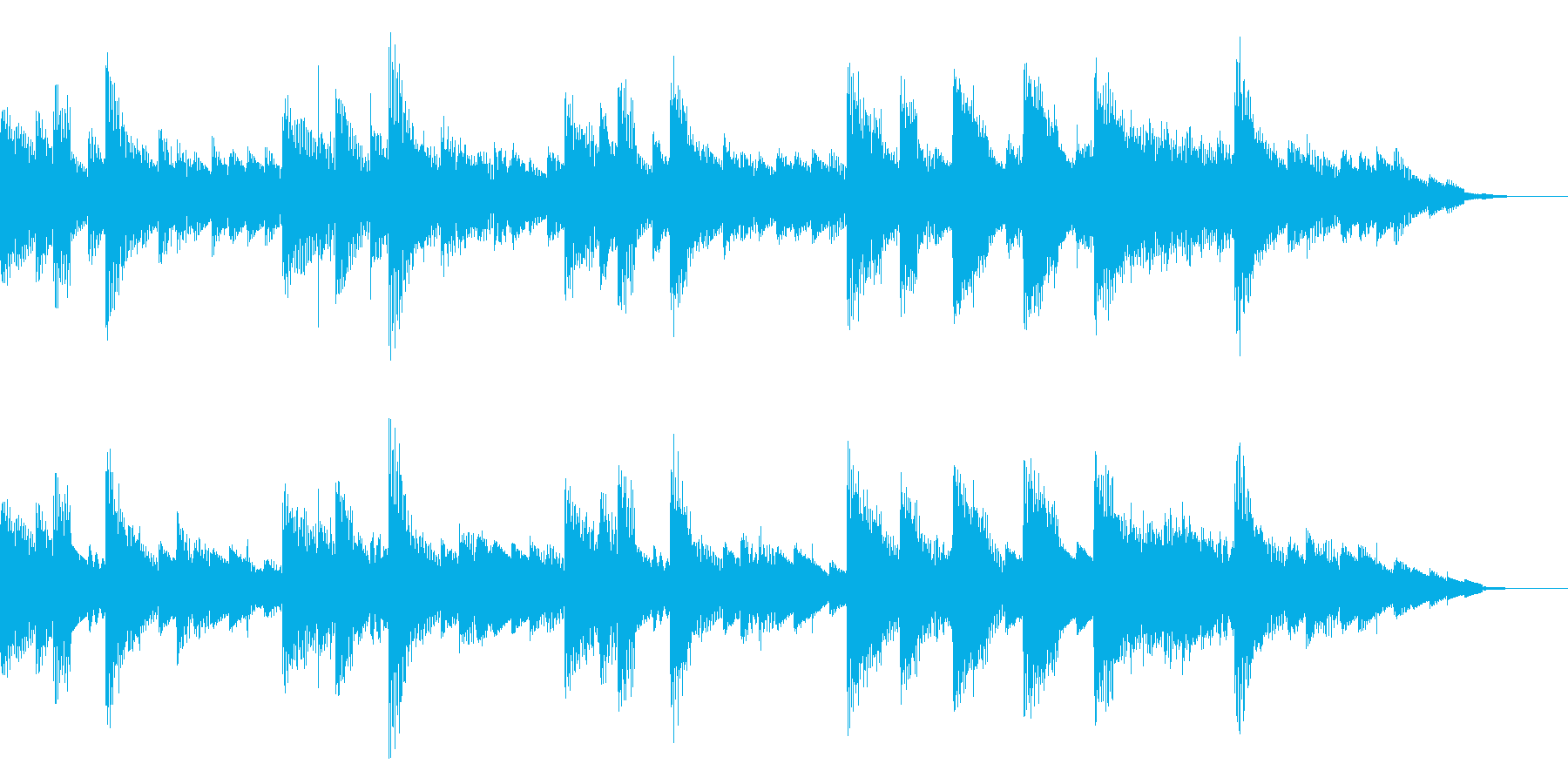 ほのぼのとしたバラードの再生済みの波形