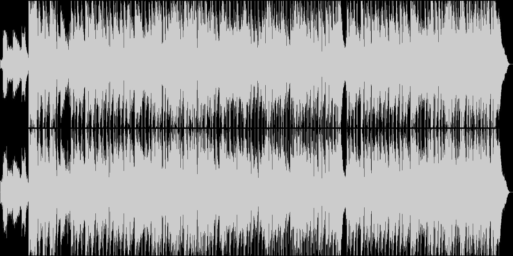 エレキギターが気持ちいゆったりカントリーの未再生の波形