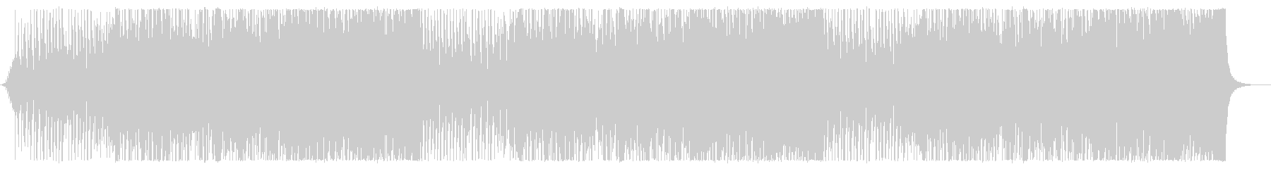 ディスコサウンドに乗ったテクノポップの未再生の波形