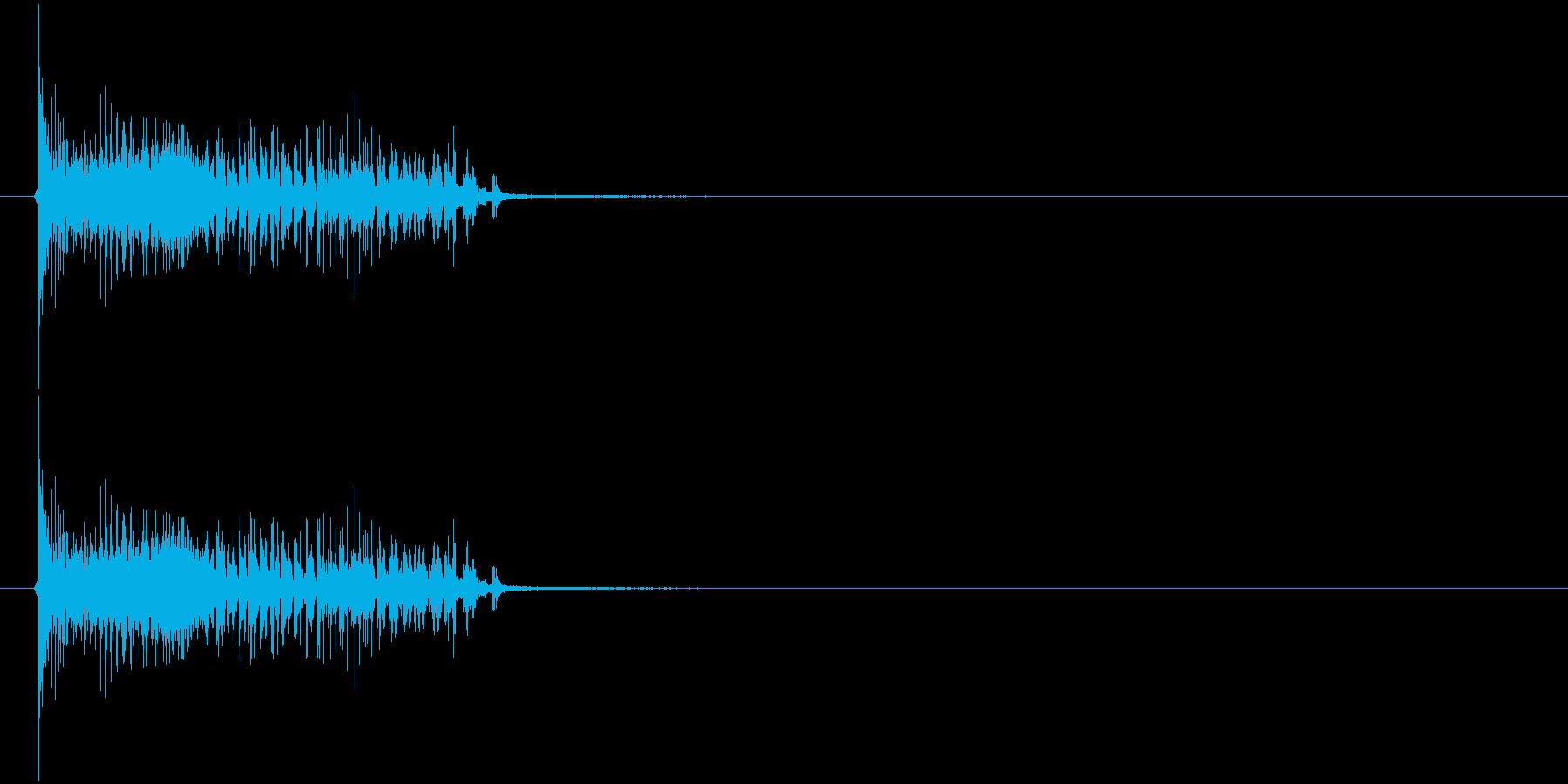 リップベース(ボー)の再生済みの波形