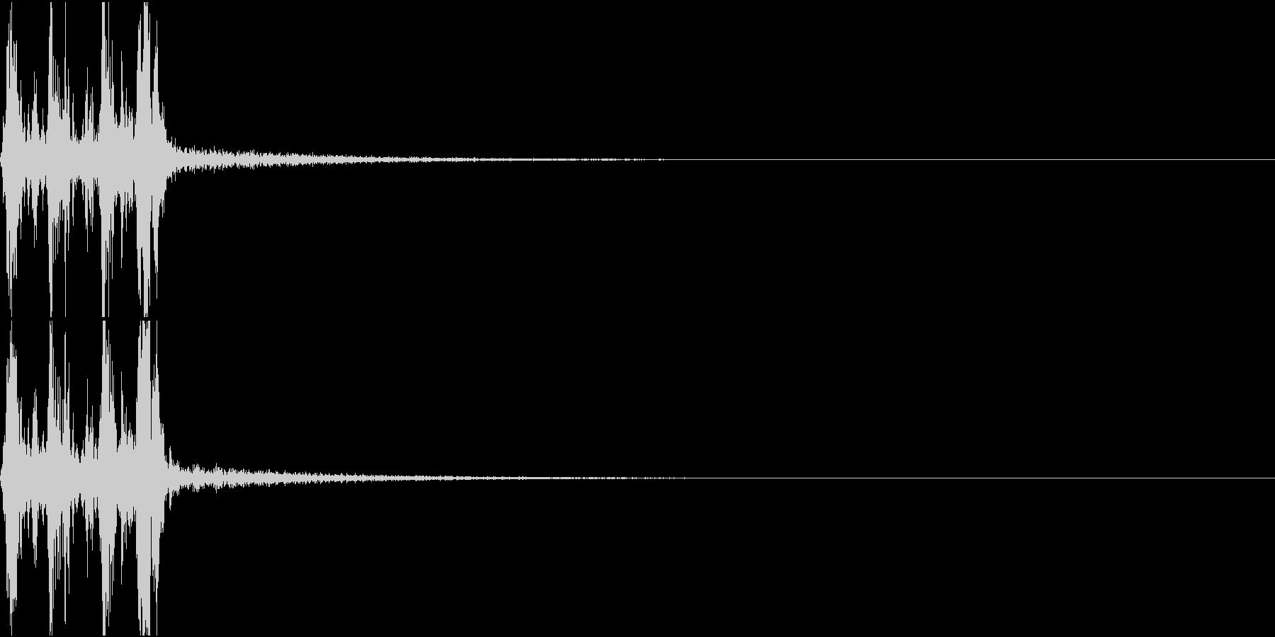 Camera 室内撮影 シャッター音 6の未再生の波形