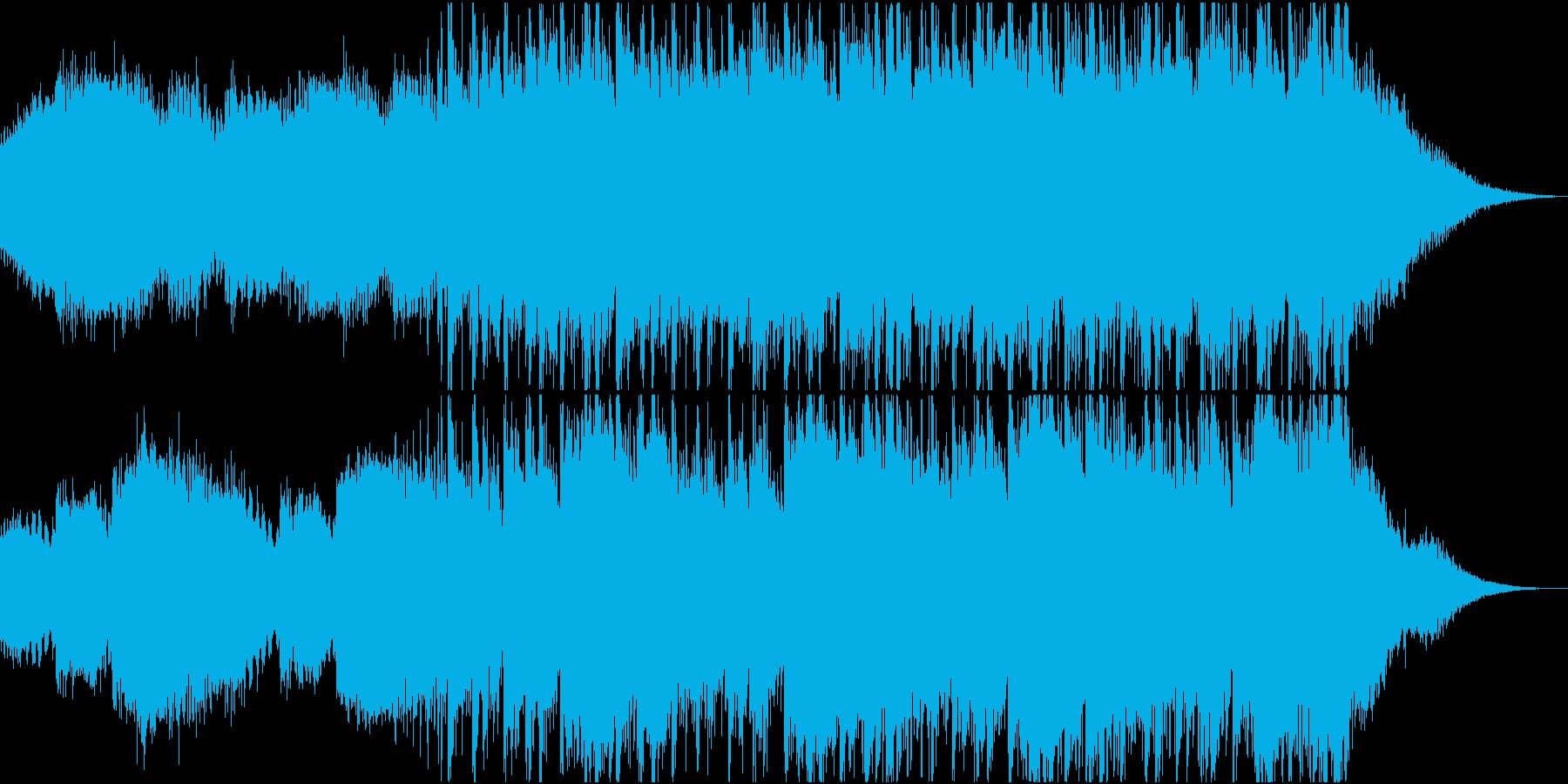 映像用の怪しい雰囲気のエレクトロニカの再生済みの波形
