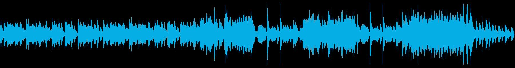 鍛冶屋の雰囲気漂う管弦楽曲の再生済みの波形